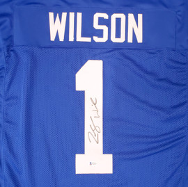 BYU Cougars Zach Wilson Autographed Royal Blue Jersey Beckett BAS Stock #191149