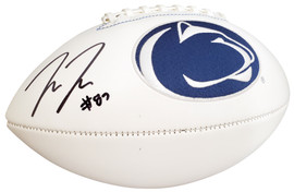 Pat Freiermuth Autographed Penn State Nittany Lions White Logo Football Beckett BAS Stock #191170