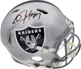 Bo Jackson Autographed Oakland Raiders Silver Full Size Authentic Speed Helmet Beckett BAS Stock #191171