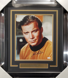 William Shatner Autographed Framed 11x14 Photo Star Trek JSA Stock #191198