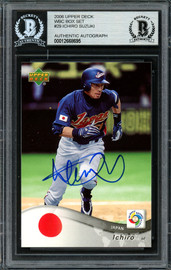 Ichiro Suzuki Autographed 2006 Upper Deck World Baseball Classic Card #29 Japan Beckett BAS #12668695