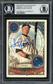 Ichiro Suzuki Autographed 2019 Topps Allen & Ginter Baseball Star Signs Card #BSS-25 Seattle Mariners Beckett BAS #12668066
