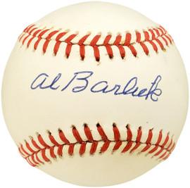 Al Barlick Autographed Official NL Baseball Umpire Beckett BAS #X12449