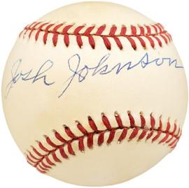 Josh Johnson Autographed Official AL Baseball Negro Leagues Beckett BAS #X12559