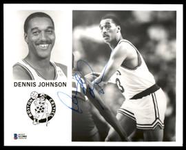 Dennis Johnson Autographed Team Issued 8x10 Photo Boston Celtics Vintage Beckett BAS #X12981