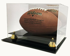 Deluxe Acrylic Football Display Case with Mirrored Back Stock #191985