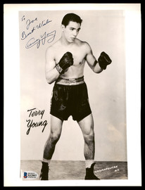 "Terry Young Autographed 8x10 Photo ""To Joe Best Wishes"" Died 1967 Beckett BAS #X12957"