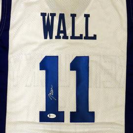 Kentucky Wildcats John Wall Autographed White Jersey Beckett BAS Stock #192169