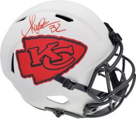 Marcus Allen Autographed Kansas City Chiefs Lunar Eclipse White Full Size Replica Speed Helmet Beckett BAS Stock #192189