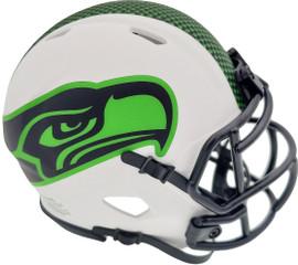 Unsigned Seattle Seahawks Lunar Eclipse White Speed Mini Helmet Stock #192180