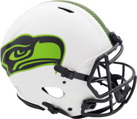 Unsigned Seattle Seahawks Lunar Eclipse White Authentic Speed Full Size Helmet Stock #192173