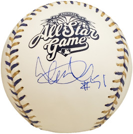 """Ichiro Suzuki Autographed Official 2002 All Star Game Baseball Seattle Mariners """"#51"""" IS Holo SKU #192292"""