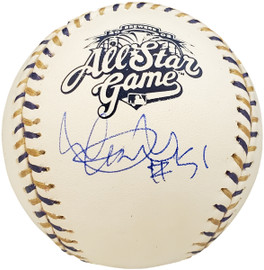 """Ichiro Suzuki Autographed Official 2002 All Star Game Baseball Seattle Mariners """"#51"""" IS Holo SKU #192293"""