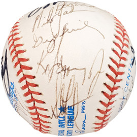 1989 Seattle Mariners Team Autographed Official AL Baseball With 24 Signatures Including Ken Griffey Jr. Rookie Beckett BAS #AA01196