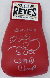 "Andre Ward Autographed Red Reyes Boxing Glove ""God Bless, S.O.G. & World Champ"" Beckett BAS #V61322"