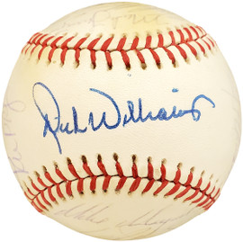 1986 Seattle Mariners Autographed Official AL Baseball With 25 Total Signatures Including Dick Williams SKU #192484