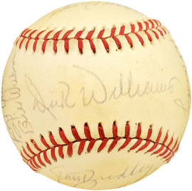 1987 Seattle Mariners Autographed Official AL Baseball With 25 Total Signatures Including Dick Williams SKU #192485