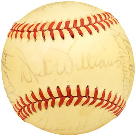 1987 Seattle Mariners Autographed Official AL Baseball With 25 Total Signatures Including Dick Williams SKU #192488