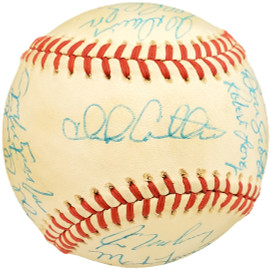 1985 Seattle Mariners Autographed Official AL Baseball With 24 Total Signatures SKU #192490