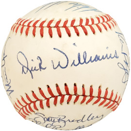 1986 Seattle Mariners Autographed Official AL Baseball With 20 Total Signatures Including Dick Williams SKU #192493