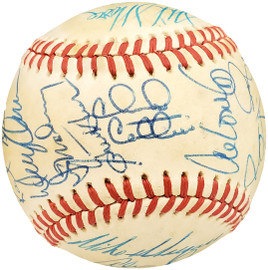 1986 Seattle Mariners Autographed Official AL Baseball With 30 Total Signatures Including Alvin Davis SKU #192494