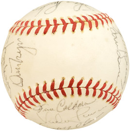 1978 Seattle Mariners Autographed Official AL Baseball With 26 Total Signatures Including Vada Pinson SKU #192495