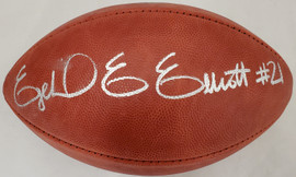 Ezekiel Elliot Autographed Official NFL Leather Football Dallas Cowboys Beckett BAS #Y92586