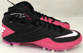 Russell Wilson Autographed Nike Super Speed TD 3/4 Pink Cleat Seattle Seahawks Size 13 Size 13 RW Holo #42236