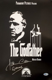"James Caan Autographed 11x17 The Godfather Movie Poster ""Sonny"" Beckett BAS Stock #192594"
