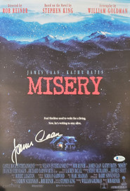 James Caan Autographed 12x18 Misery Movie Poster Beckett BAS Stock #192596