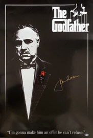 James Caan Autographed 24x36 The Godfather Movie Poster Beckett BAS Stock #192603