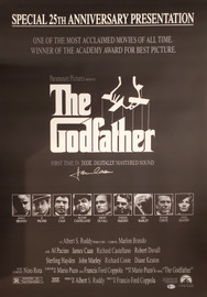 James Caan Autographed 27x39 The Godfather Movie Poster Beckett BAS Stock #192604