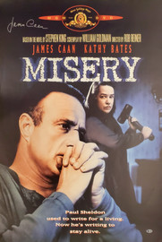 James Caan Autographed 27x39 Misery Movie Poster Beckett BAS Stock #192605