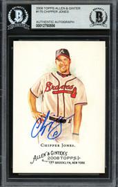 Chipper Jones Autographed 2008 Topps Allen & Ginter Card #175 Atlanta Braves Beckett BAS Stock #193099