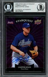 Chipper Jones Autographed 2009 Upper Deck Starquest Card #SQ-4 Atlanta Braves Beckett BAS #12750574