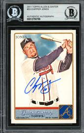 Chipper Jones Autographed 2011 Topps Allen & Ginter Card #53 Atlanta Braves Beckett BAS Stock #193122