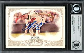 Chipper Jones Autographed 2012 Topps Allen & Ginter Card #33 Atlanta Braves Beckett BAS #12750803