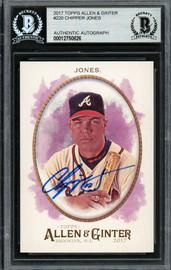 Chipper Jones Autographed 2017 Topps Allen & Ginter Card #220 Atlanta Braves Beckett BAS #12750826