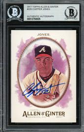 Chipper Jones Autographed 2017 Topps Allen & Ginter Card #220 Atlanta Braves Beckett BAS #12750825