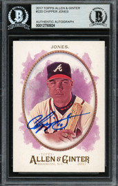 Chipper Jones Autographed 2017 Topps Allen & Ginter Card #220 Atlanta Braves Beckett BAS #12750824