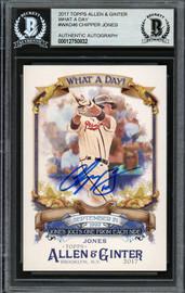 Chipper Jones Autographed 2017 Topps Allen & Ginter What A Day Card #WAD-46 Atlanta Braves Beckett BAS Stock #193140