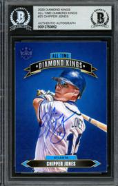 Chipper Jones Autographed 2020 Panini Diamond Kings Card #ATDK-21 Atlanta Braves Beckett BAS #12750852