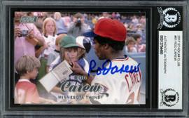 Rod Carew Autographed 2017 Topps Stadium Club Card #61 Minnesota Twins Beckett BAS #12754480
