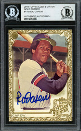 Rod Carew Autographed 2019 Topps Allen & Ginter Gold Card #115 Minnesota Twins Beckett BAS #12754537
