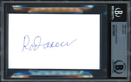 Rod Carew Autographed 3x5 Index Card Minnesota Twins, California Angels Beckett BAS Stock #193463
