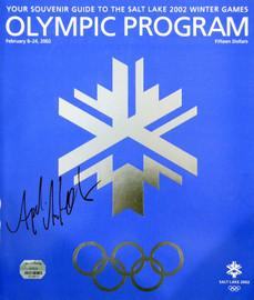 Apolo Ohno Autographed Official 2002 Winter Games Olympic Program Team USA Salt Lake City MM Holo #18613