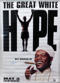 Damon Wayans Autographed 47x70 The Great White Hype Vinyl Movie Poster Beckett BAS #V62889