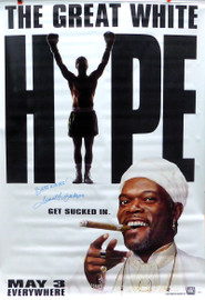 "Samuel L. Jackson Autographed 47x70 The Great White Hype Vinyl Movie Poster ""Best Wishes"" Beckett BAS #A34712"