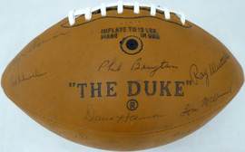 1968 Green Bay Packers Team Autographed Football With 48 Signatures Including Bart Starr PSA/DNA #AI02203