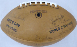 1962 Green Bay Packers Autographed Football With 42 Signatures Including Vince Lombardi & Bart Starr Beckett BAS #AA01194